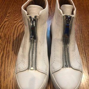 Frye Lena Sneakers White Size 7.5 New